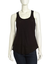 W By Wilt Twisted Slub Knit Tank Black