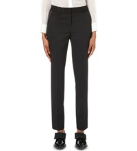 The Kooples Embroidered Waistband Trousers Black
