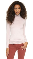 Three Dots Fitted Lightweight Turtleneck Gray Morn