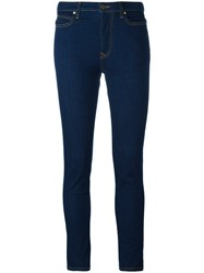 Vivienne Westwood Anglomania Skinny Cropped Jeans Blue
