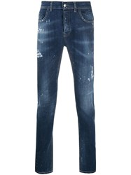 Frankie Morello Distressed Jeans Blue