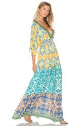 Hemant And Nandita Caftan Maxi Yellow