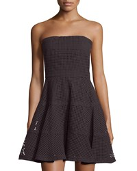 See By Chloe Strapless Eyelet Fit And Flare Dress Black