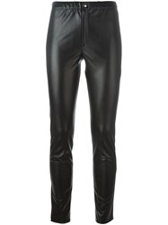 Etoile Isabel Marant A Toile 'Jeffrey' Faux Leather Trousers Black