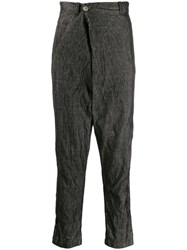 Transit Crease Effect Trousers Black