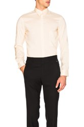 Christophe Lemaire Silk Pointed Collar Shirt In Neutrals