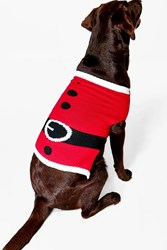 Boohoo Father Christmas Suit Dog Jumper Red
