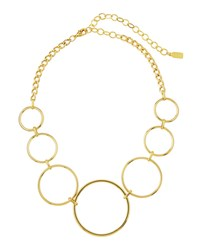 A.V. Max Geometric Circle Link Necklace Gold