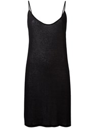 Ann Demeulemeester Elongated Ribbed Cami Black