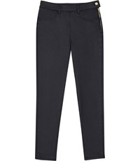 Reiss Hedy Coated Coated Cropped Jeans In Ink