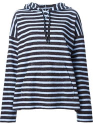 T By Alexander Wang Striped Hooded Sweater