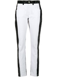 Givenchy High Waisted Straight Jeans Black