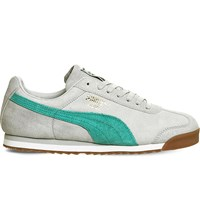 Puma Roma Low Top Leather Trainers Grey Spectre Suede