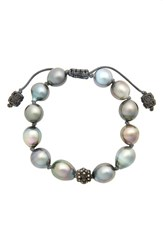 Armenta Old World Pearl And Diamond Bracelet