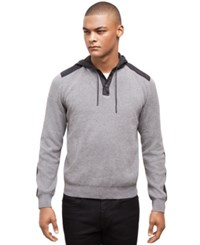 Kenneth Cole New York Pullover Hoodie Flannel Heather