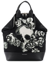 Alexander Mcqueen De Manta Backpack Black