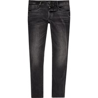 River Island Mens Black Faded Skinny Fit Sid Jeans