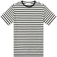 Officine Generale Japanese Stripe Tee Blue