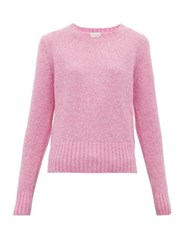 Moncler Logo Patch Sweater Pink