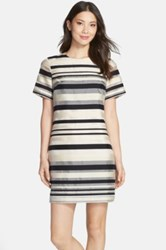 Felicity And Coco Stripe Shift Dress Black