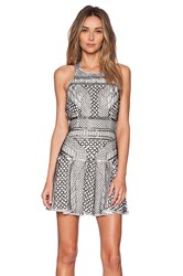 Parker Black Leona Sequin Dress Black And White