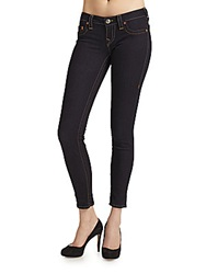 True Religion Casey Low Rise Super Skinny Jeans Rinse Blue