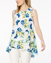 Alfani Petite Floral Print Swing Top Created For Macy's Small Floral
