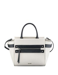 Nine West Get Poppin Satchel White Black