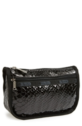 Le Sport Sac Travel Cosmetic Case Leatherette Snake