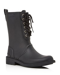 Rag And Bone Ansel Lace Up Rain Boots Black