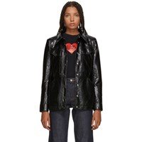 Alexachung Black Shiny Patch Pocket Jacket