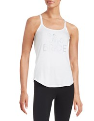 Betsey Johnson Embellished Bridal Tank Bridal White