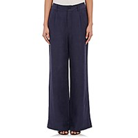 Ulla Johnson Women's Hugo Wide Leg Trousers Navy Blue Navy Blue