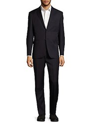 Yves Saint Laurent Regular Fit Structured Italian Wool Suit Navy