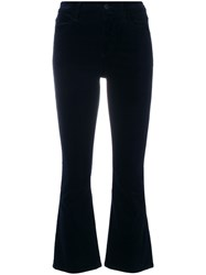 Citizens Of Humanity Cropped Flared Trousers Cotton Spandex Elastane Supima Cotton Blue