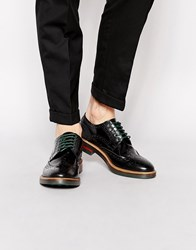 Base London Woburn Hi Shine Leather Brogues Black