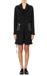 Paco Rabanne Patch Pocket Car Coat Black
