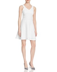 French Connection Lula Fit And Flare Dress Summer White