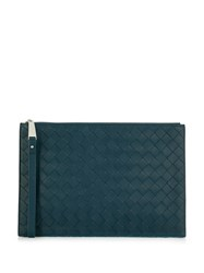 Bottega Veneta Intrecciato Clutch Bag Blue