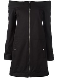 Diesel Black Gold Zip Up Fitted Dress Black