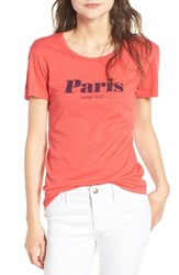 Sundry Women's Paris Cotton Graphic Tee