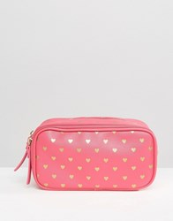 Bombay Duck Cosmetics Compartment Case Fuchsia Gold Pink