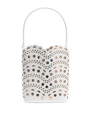 Azzedine Alaia New Vienne Laser Cut Leather Bucket Bag