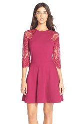 Women's Bb Dakota 'Yale' Lace Panel Fit And Flare Dress