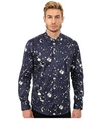 7 Diamonds Midnight Blossom Top Navy Men's Long Sleeve Button Up
