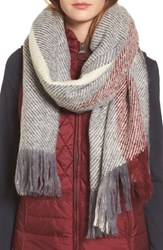 Barbour 'S Munro Scarf Grey Red