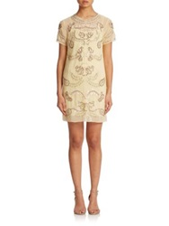 Needle And Thread Embellished Shift Dress Bright Yellow