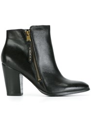 Lauren Ralph Lauren Almond Toe Ankle Boots Black