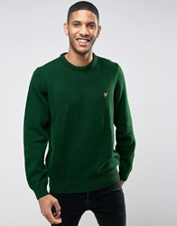 Lyle And Scott Crew Jumper Lambswool In Green Scots Green