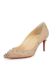 Degraspike Mid Heel Red Sole Pump Nude Christian Louboutin